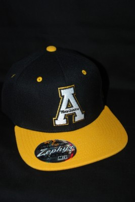 "'A"" Logo Flat Bill w/ Modern Yosef Logo on Back Fitted Hat $21.95"