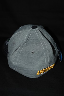 "Gray w/ Black Textured Bill Basic 'A"" Fitted Hat $21.95"