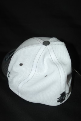 Back White w/ Gray Bill Basic 'A' Logo Fitted Hat $21.95