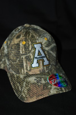 'A' Logo Camo Fitted Hat $21.95