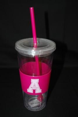 "Pink App ""A"" Logo Tumbler $16.95"