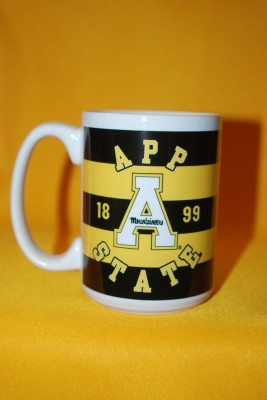 Striped App Letter Logo Mug $13.95