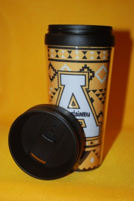 """Christmas Sweater"" App Logo Travel Mug $12.95"