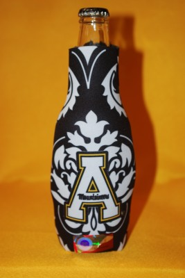Unique Design Black w/ white Design Bottle Coozie $7.95