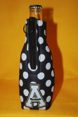 Black w/ White Polka Dots Bottle Coozie $7.95