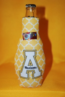 Gold Design Bottle Coozie $7.95