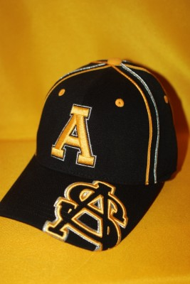 'A' Logo w/ 'AS' Overlapping Text on Bill Fitted Hat $21.95
