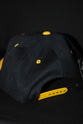 "Back ""Mountaineers"" Cursive Black and Gold Hat $22.95"