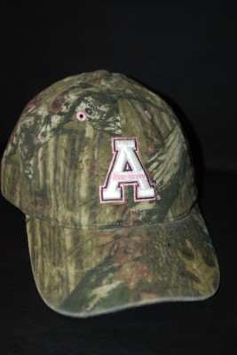 'A' Logo Camo Hat w/ Pink Lettering $18.95
