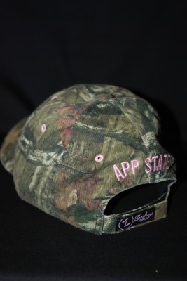 Back 'A' Logo Camo Hat w/ Pink Lettering $18.95