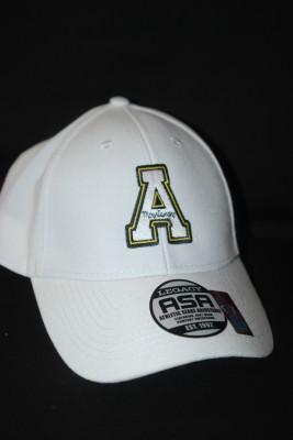 White Basic 'A' Logo Hat w/ Velcro Strap $18.95