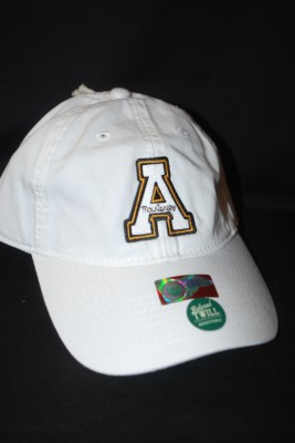 White Basic 'A' Logo Hat $18.95