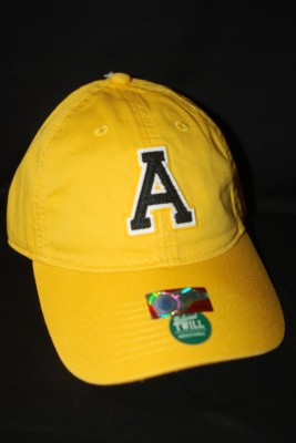Yellow Basic 'A' Logo Hat $18.95