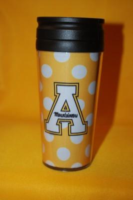 Gold Polka  Dot Travel Mug $12.95