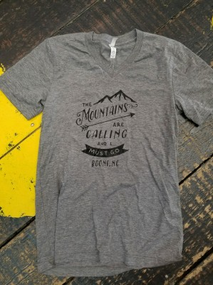 """The mountains are calling and I must go"" Tee"