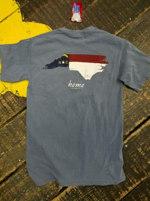 North Carolina w/ Flag Colors Tee