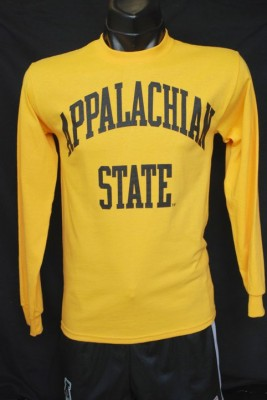 app state gold with black arch long sleeve, size small-3xl, 12.95