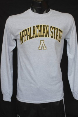 app state long sleeve grey with arch over A, size small-3xl, 14.95
