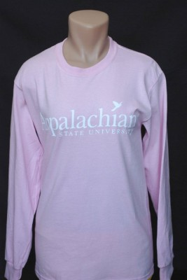 app state long sleeve pink bird logo, size small-3xl, 12.95